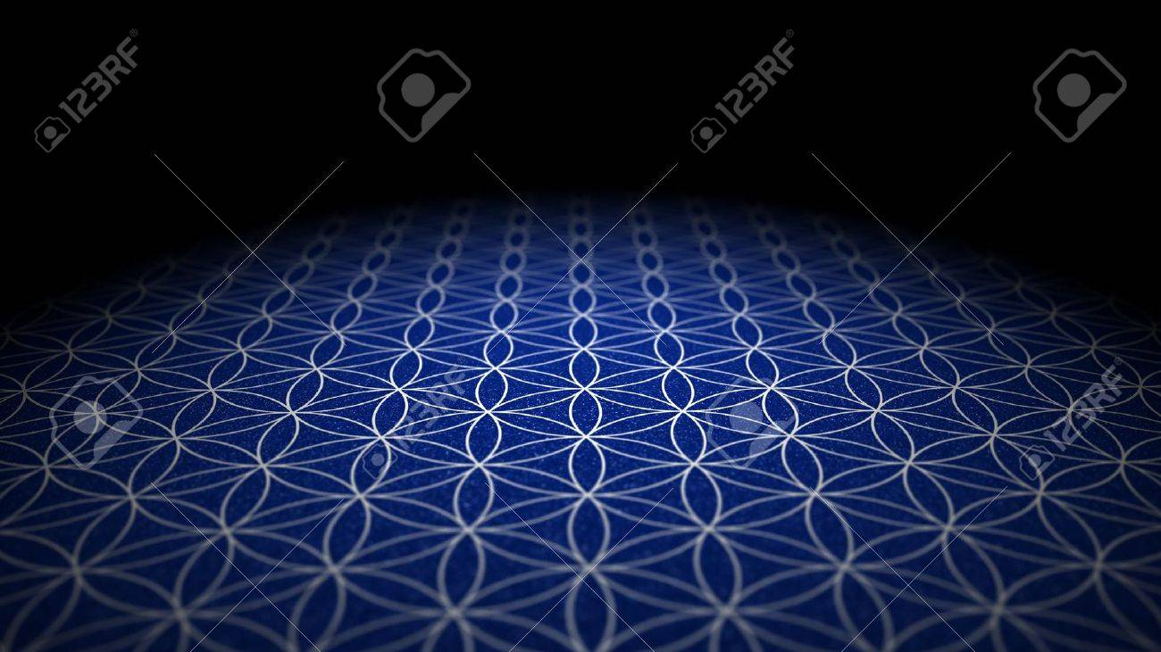 With soil texture - Flower of Life - Blue Silver Stock Photo - 18881589