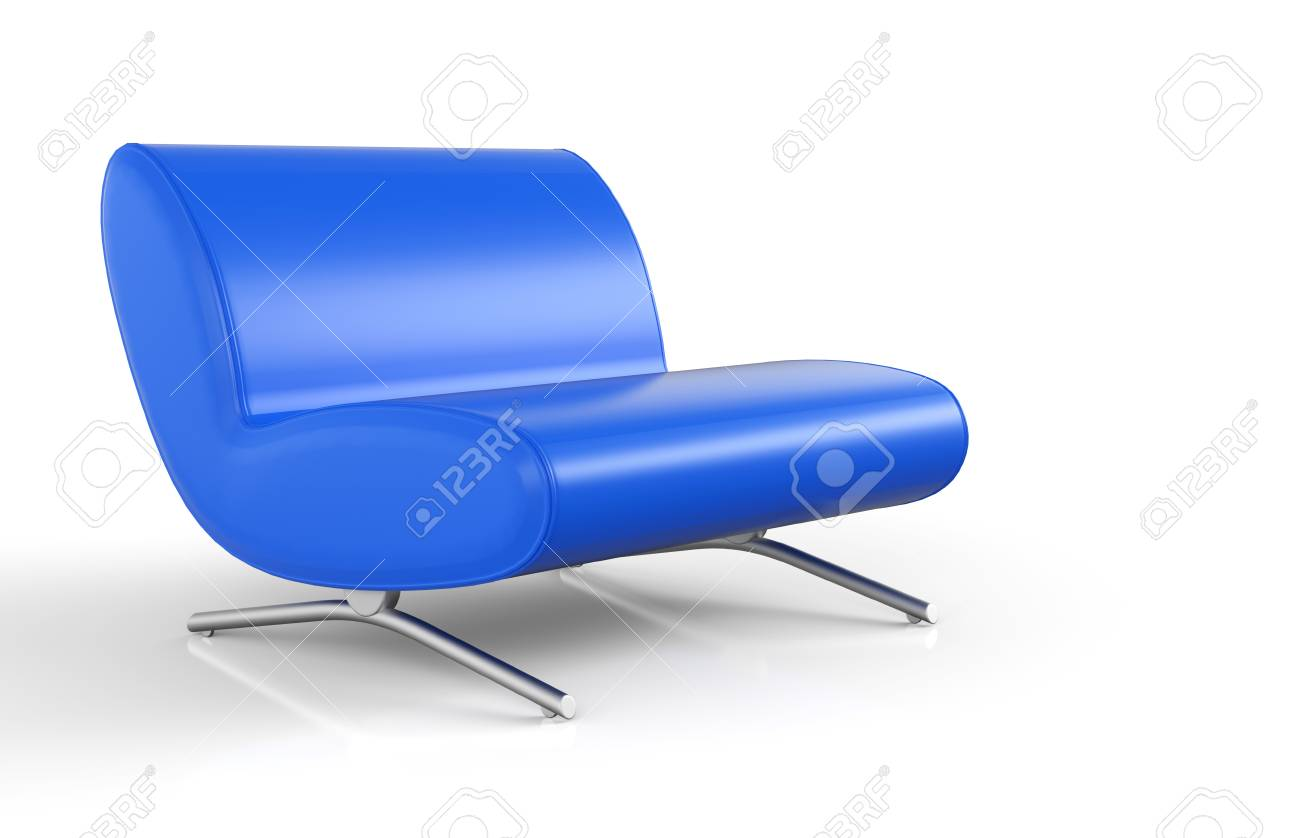 Big Blue Chair Stock Photo - 25681159