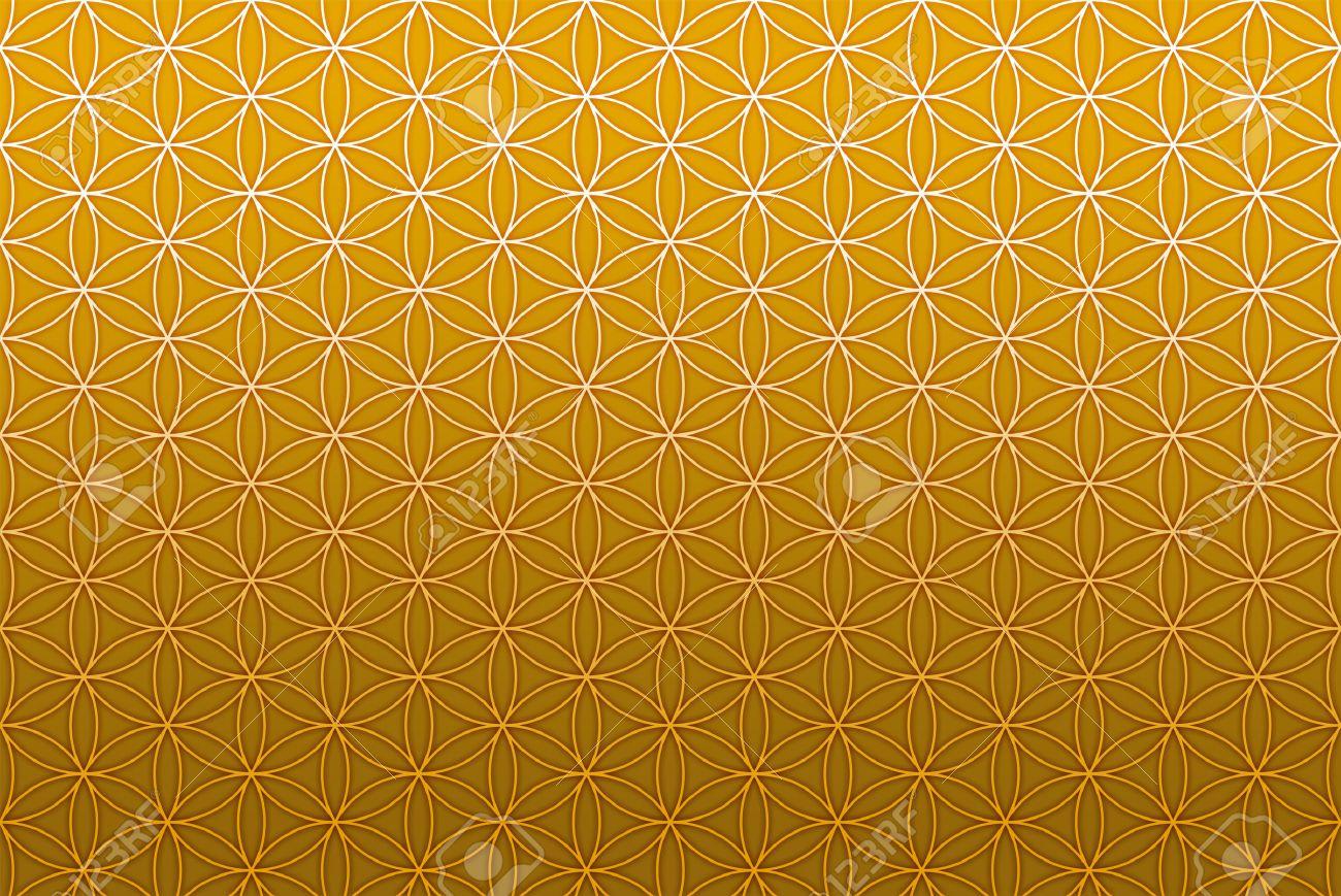 flower of life pattern gold Banque d'images - 42834646