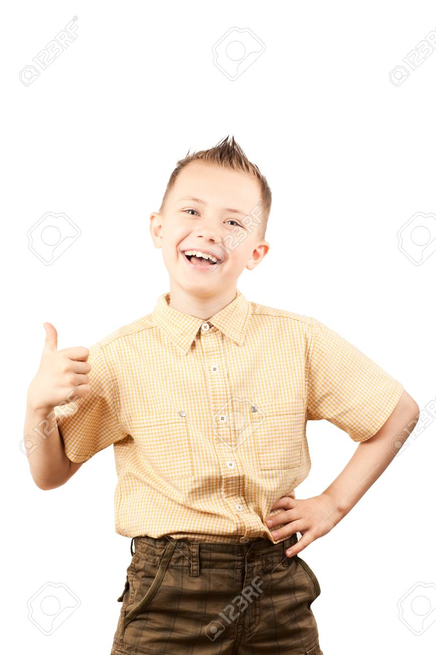 Ok sign from a little boy Stock Photo - 12904391