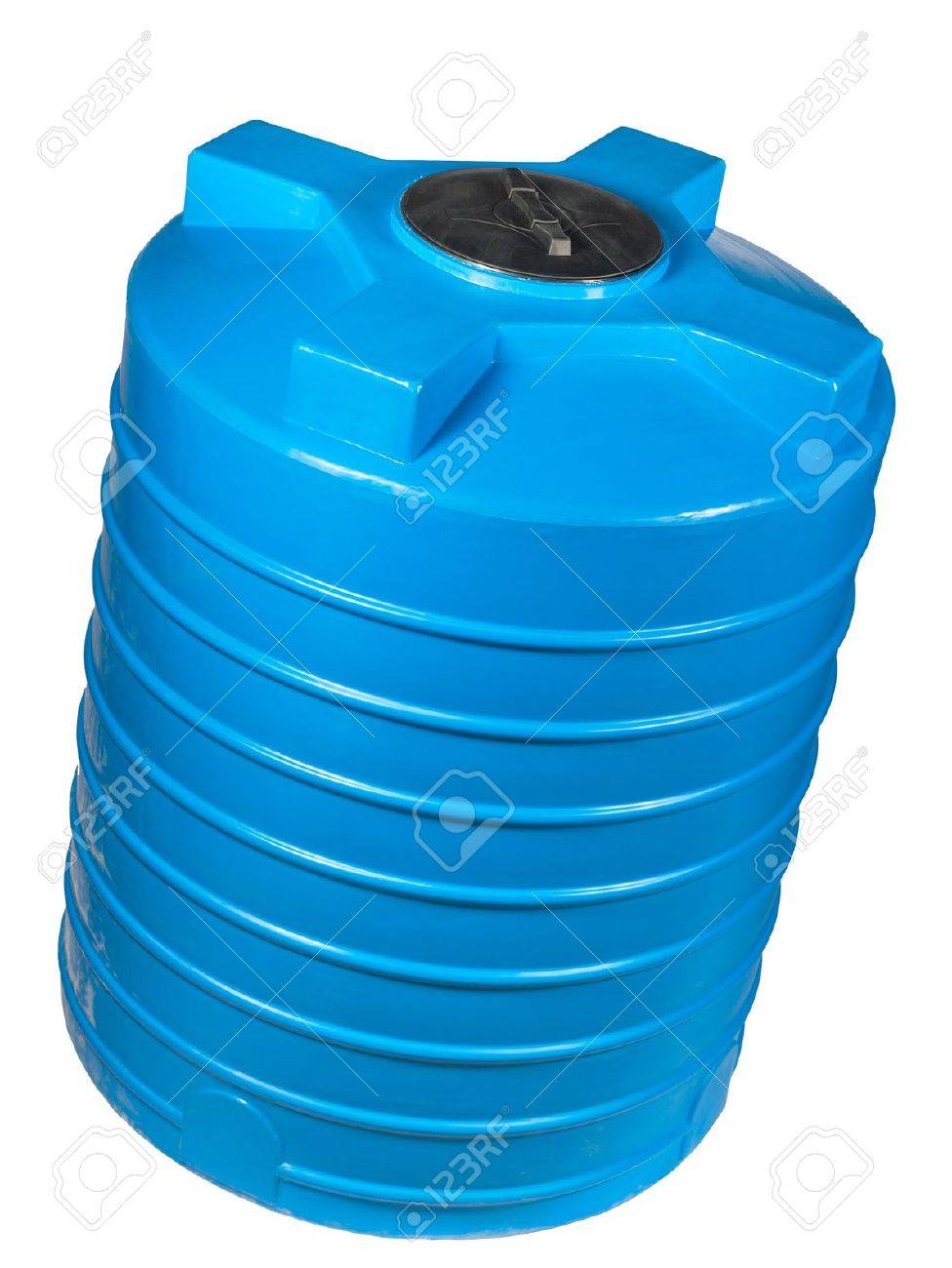 Big polyethylene container of 2000 litres. Used for accumulation, storage and transportation of not only technical or drinking water, but also a variety of dry and liquid food products, as well as oils and chemicals. - 14793438