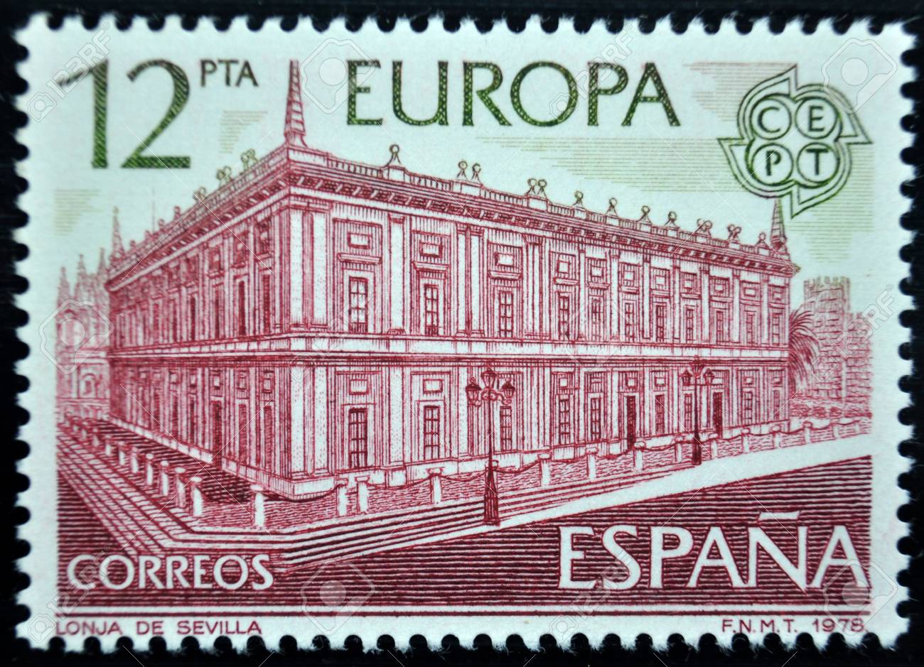 Postage Stamp Spain 1978 Stock Photo