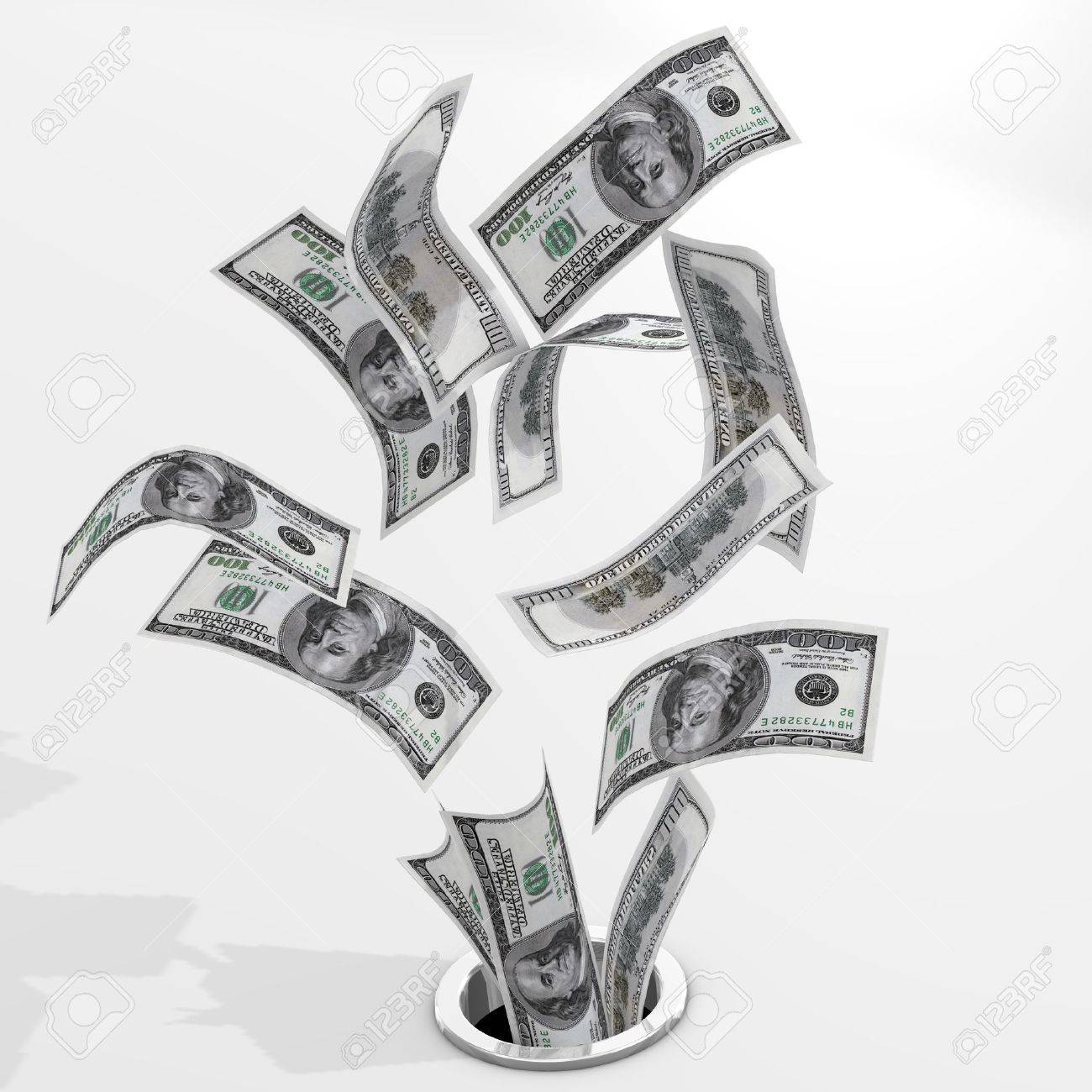 Dollars to drain Stock Photo - 8222546