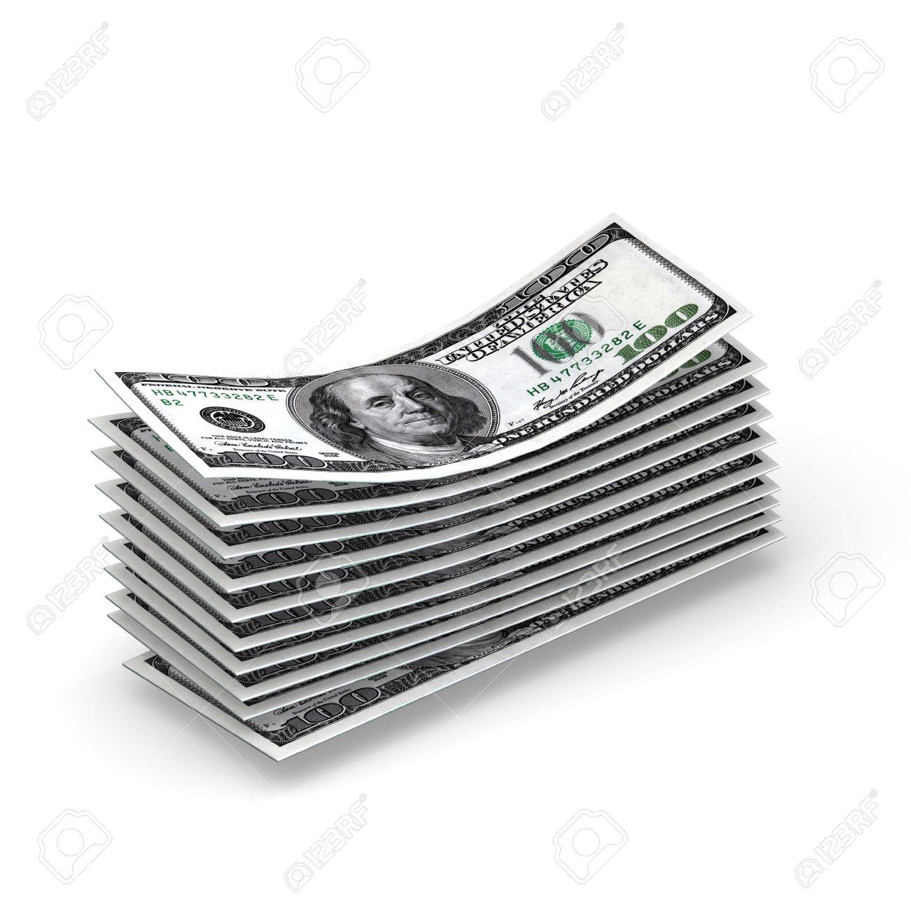 Cash flow - dollar bills computer render Stock Photo - 15514994