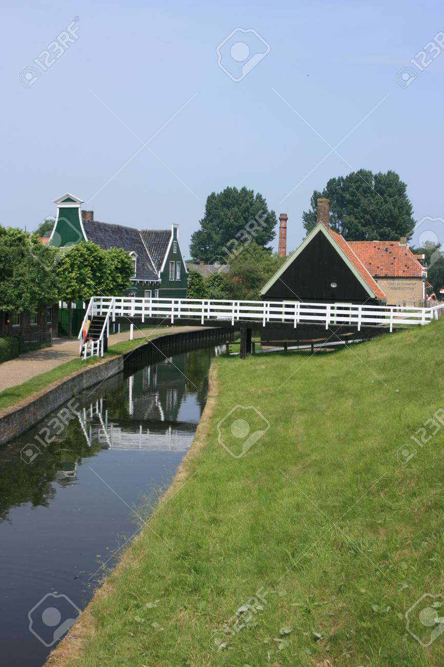 beautiful scenery at heritage museum of enkhuizen in north of holland Stock Photo - 5938001