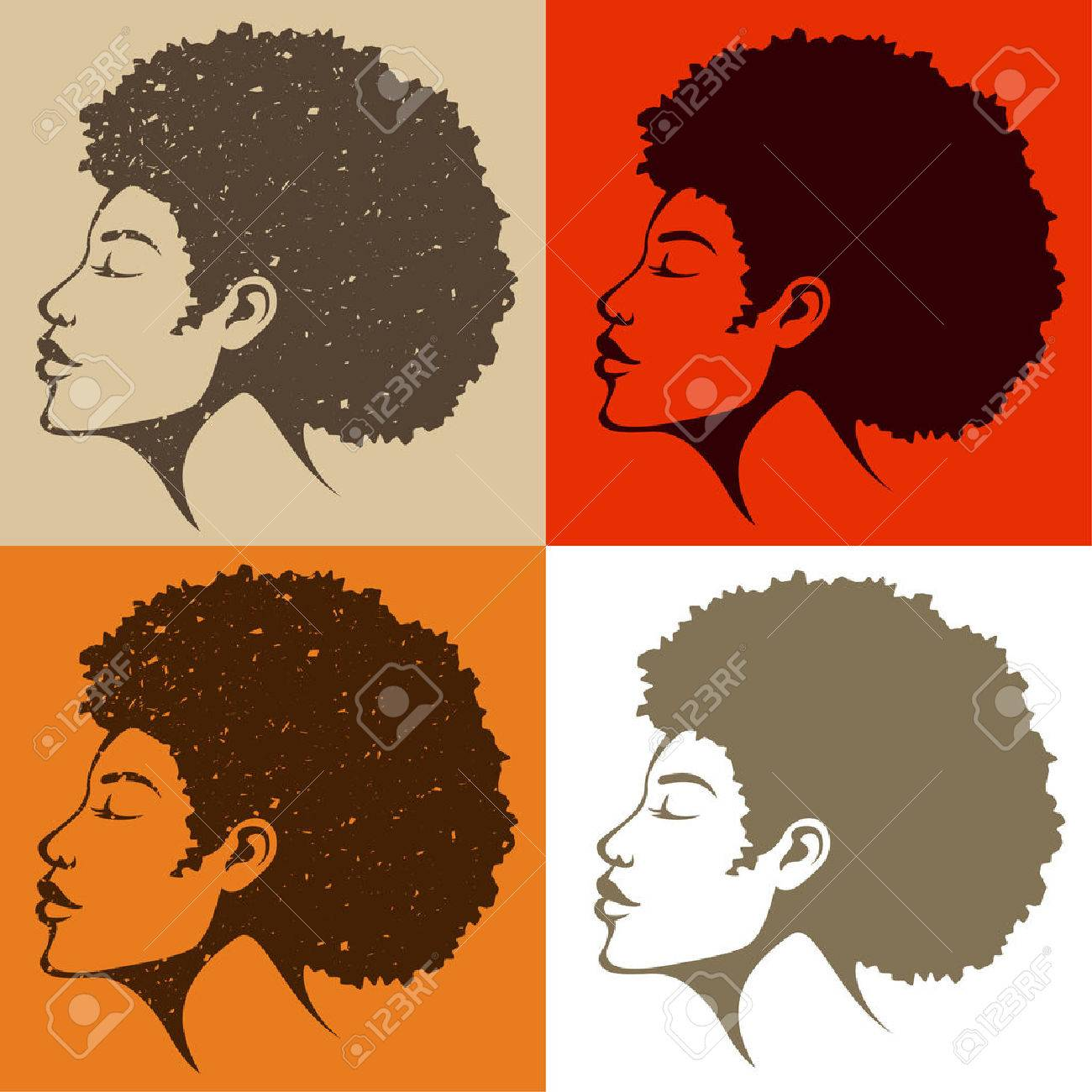beautiful African American woman with natural hair - 41708768
