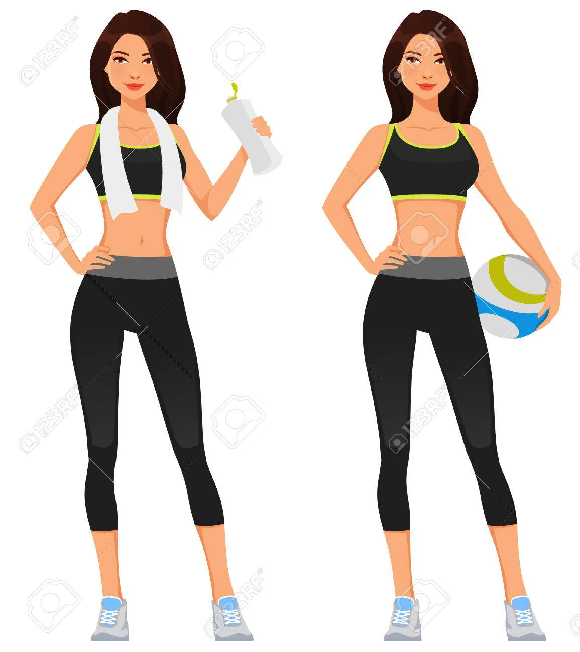 Young Fit Woman In Sportswear Royalty Free Cliparts Vectors And Stock Illustration Image 71840439 219 fitness vectors & graphics to download fitness 219. young fit woman in sportswear