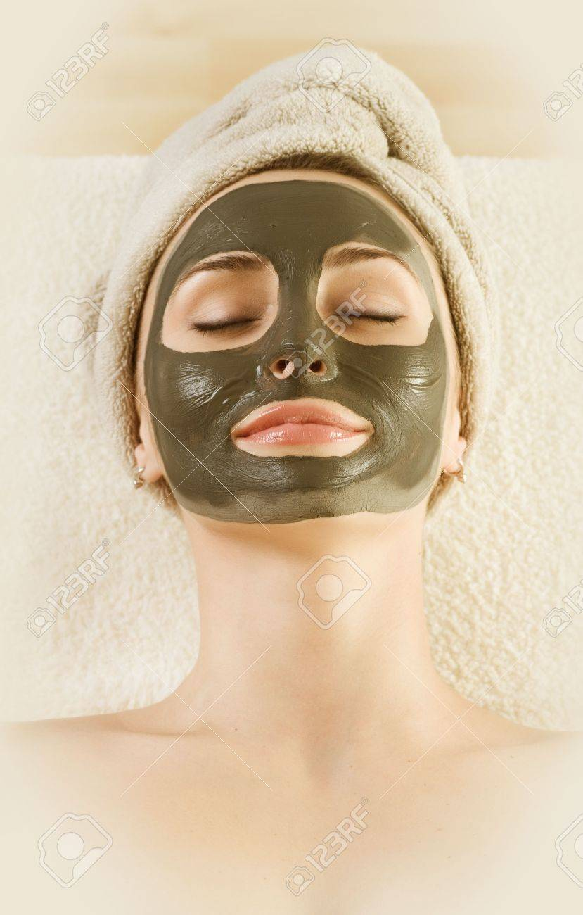 Spa Mud Mask on the woman's face Stock Photo - 6681334