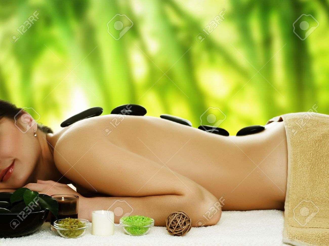 Spa and Stone therapy outdoor Stock Photo - 6683199