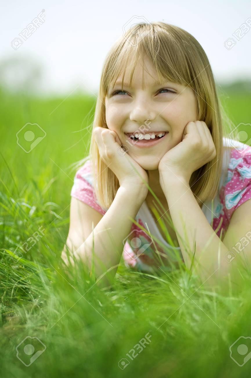 Happy Little Girl outdoor Stock Photo - 6987795
