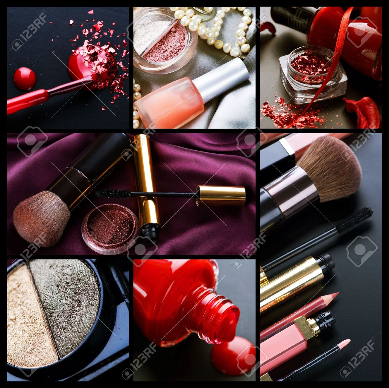 Professional Make-up collage Stock Photo - 7651595