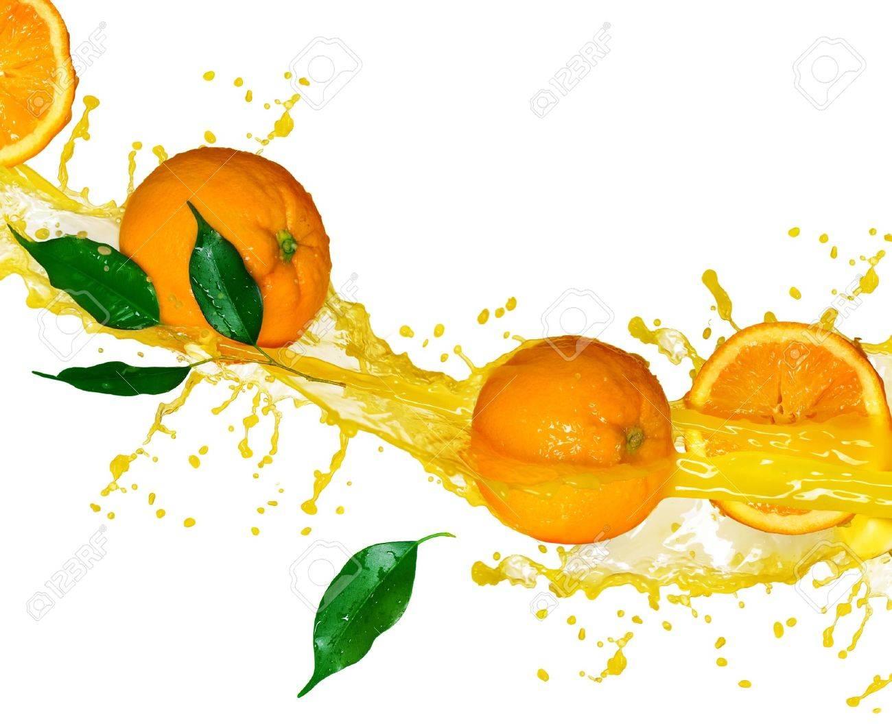 Orange juice isolated on white - 7815190
