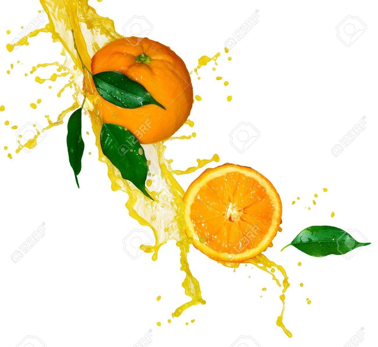Orange juice isolated on white - 7815188