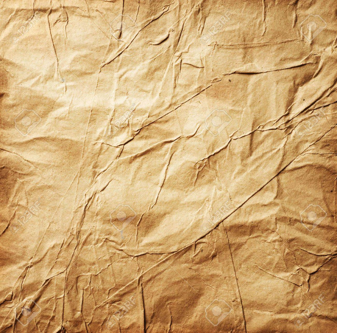 Old Crumpled Paper Stock Photo - 9367532