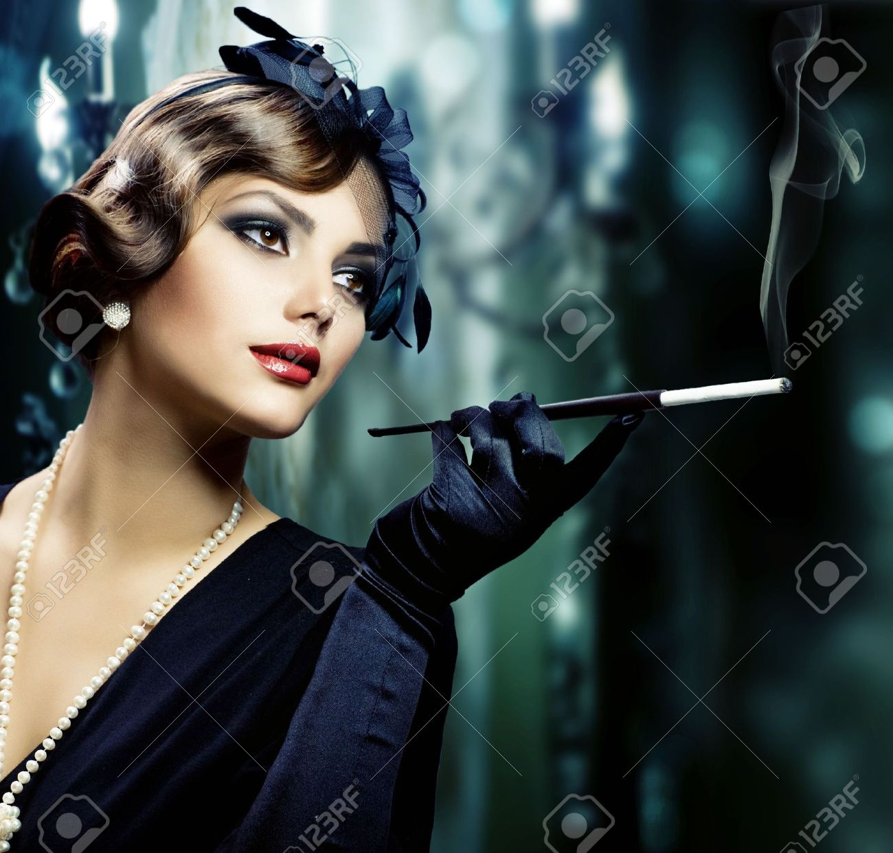 Vintage Portrait of Beautiful Young Woman.Retro Style Stock Photo - 8427633