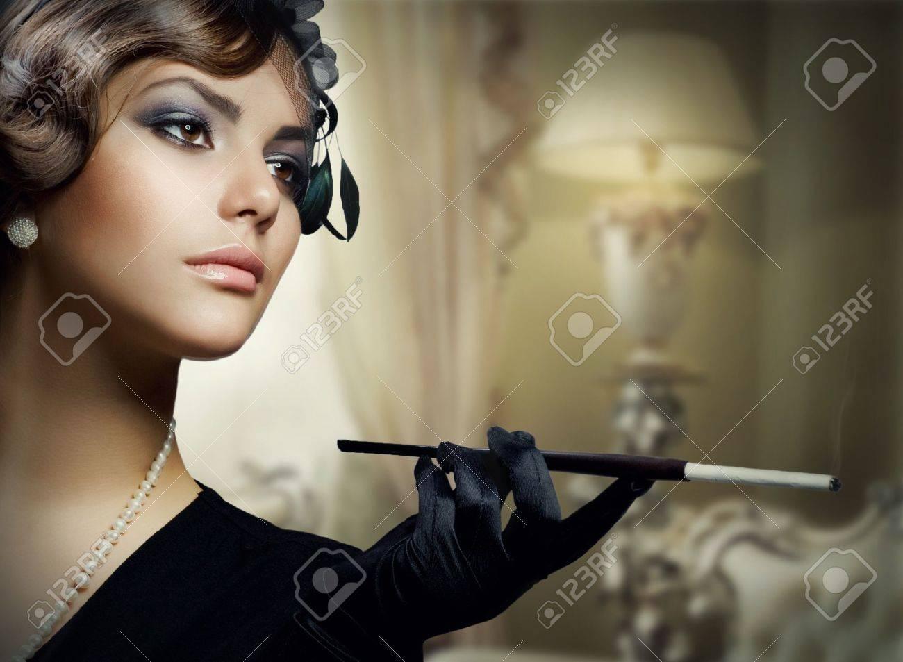 Romantic Beauty. Retro Style Stock Photo - 8382522