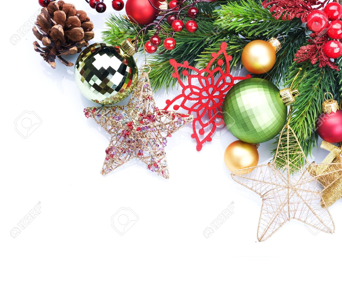 Christmas Decoration Border Design Stock Photo, Picture And ...