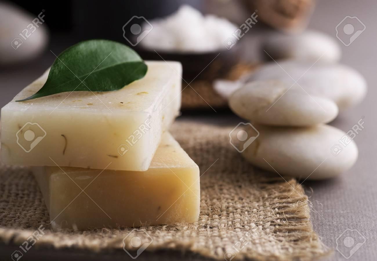Spa Handmade natural Soap.Selective focus Stock Photo - 9022617
