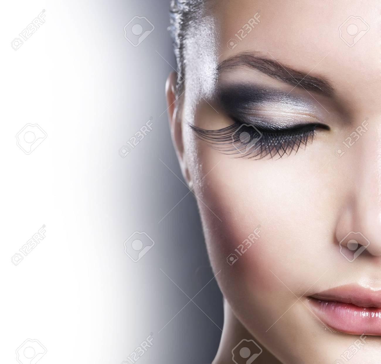 Beauty Face closeup.Makeup - 9091290