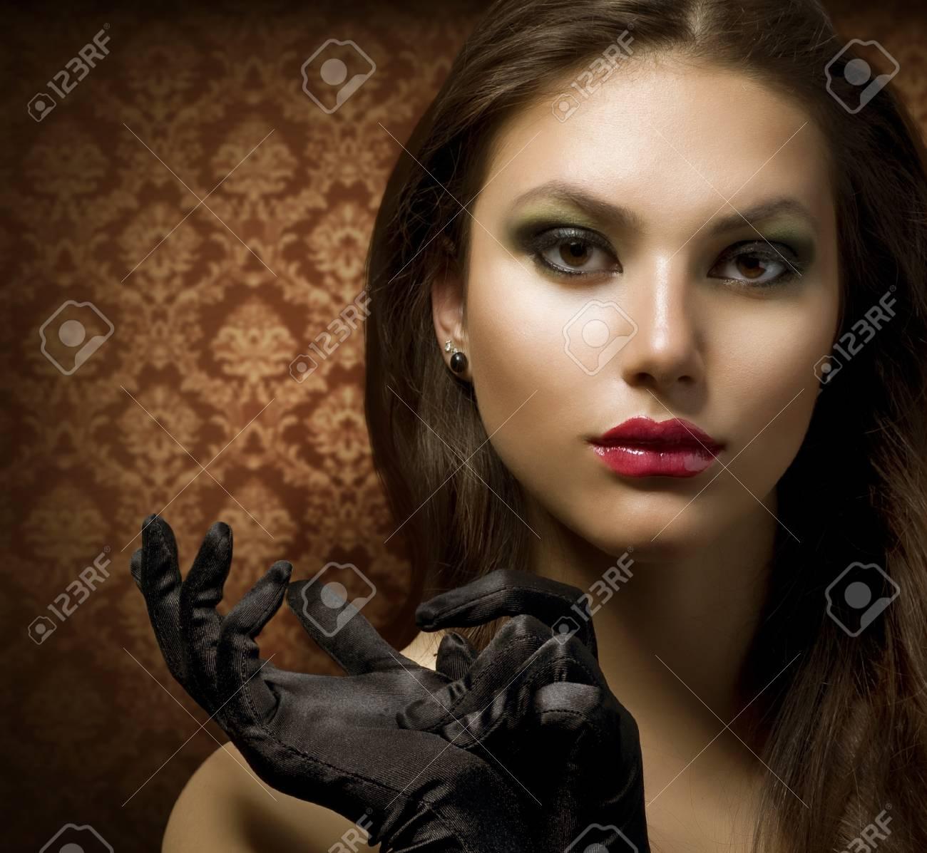 Fashion Art Portrait. Beautiful Woman Stock Photo - 9526455