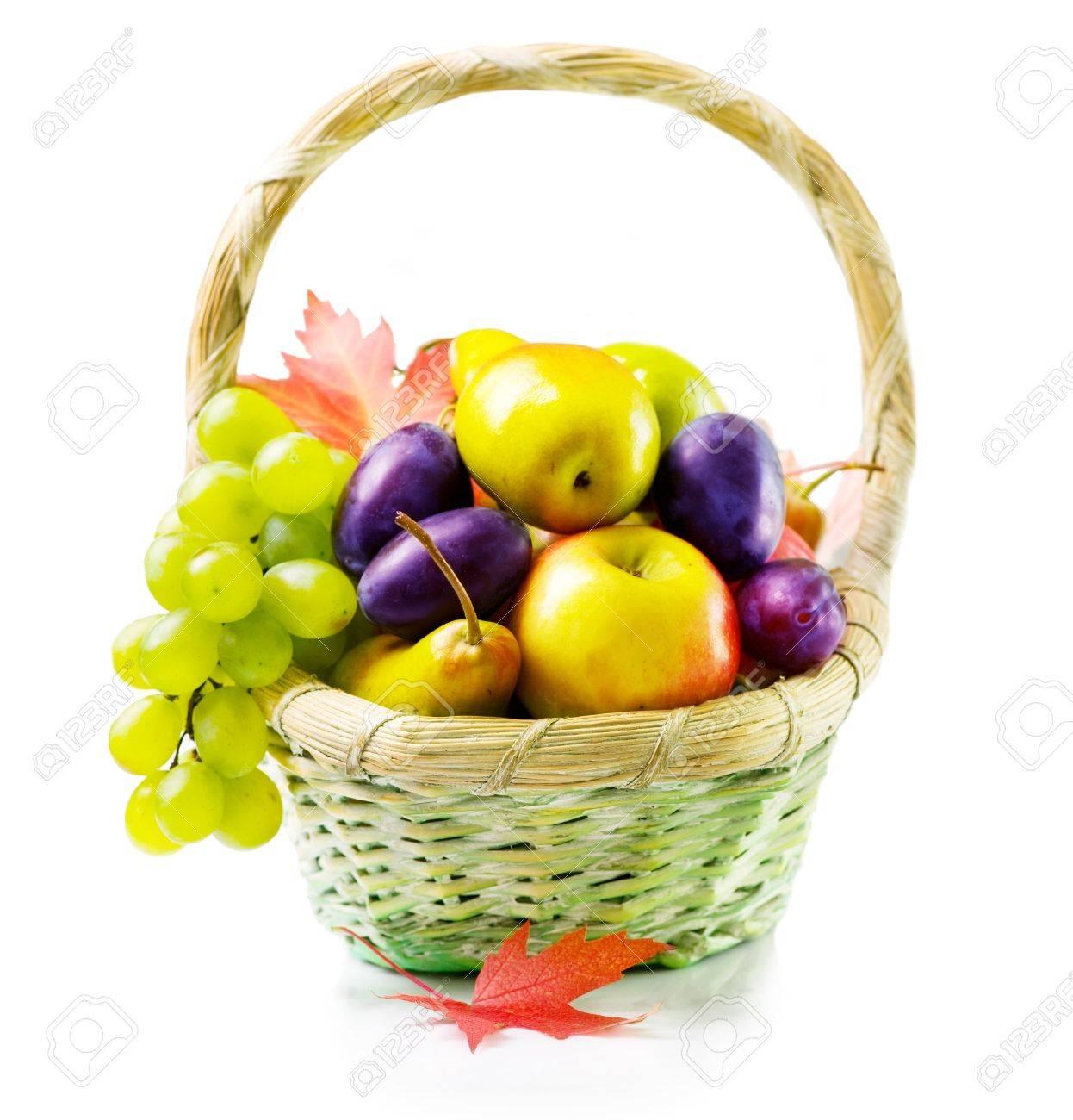 Organic ripe fruits. Isolated on White Stock Photo - 10688975