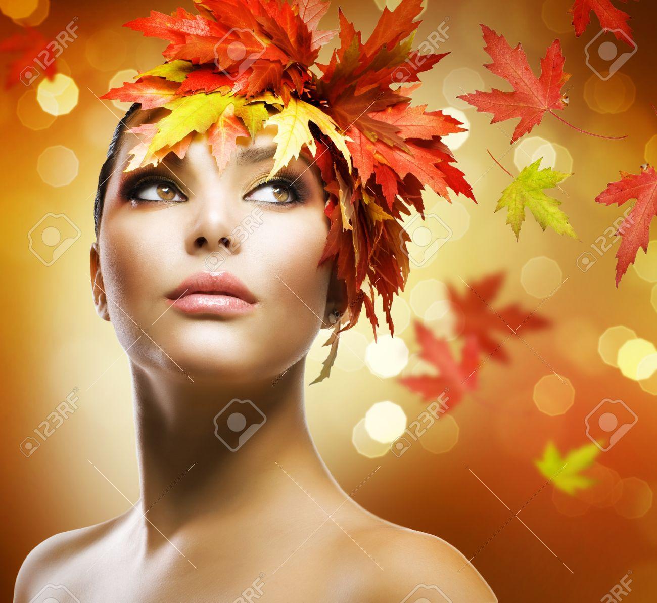 Fashion Woman Makeup. Autumn Style - 10689021