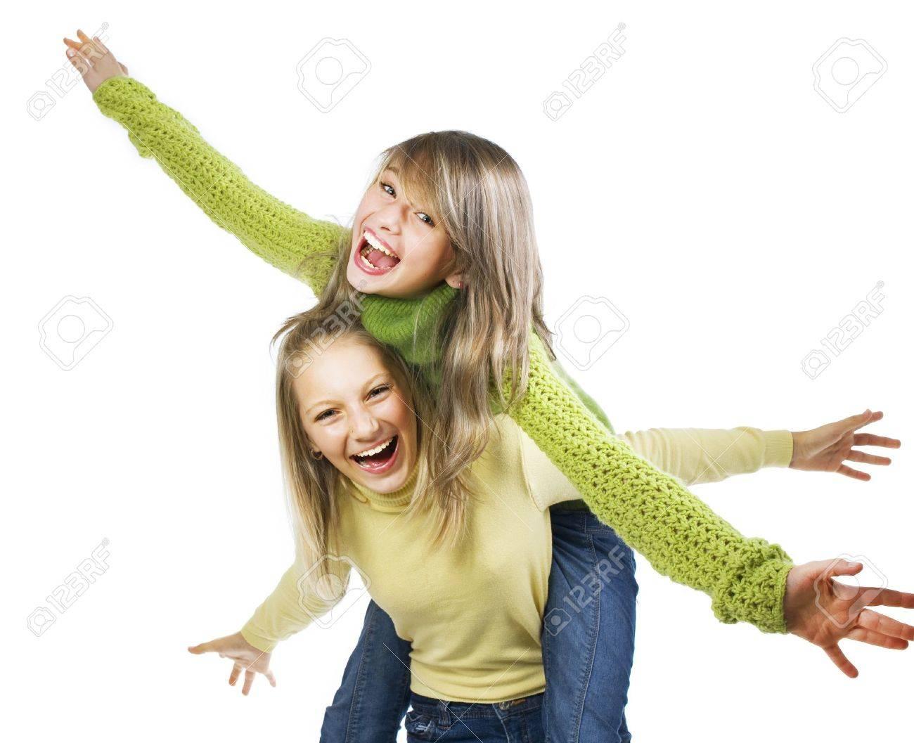 Teenage Girls Having Fun. Friends. Emotions Stock Photo - 10789548
