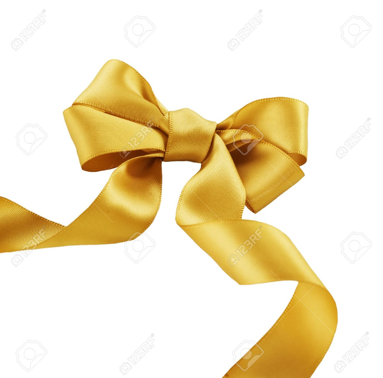 Gold Bow on a White Background Stock Photo - 11559859