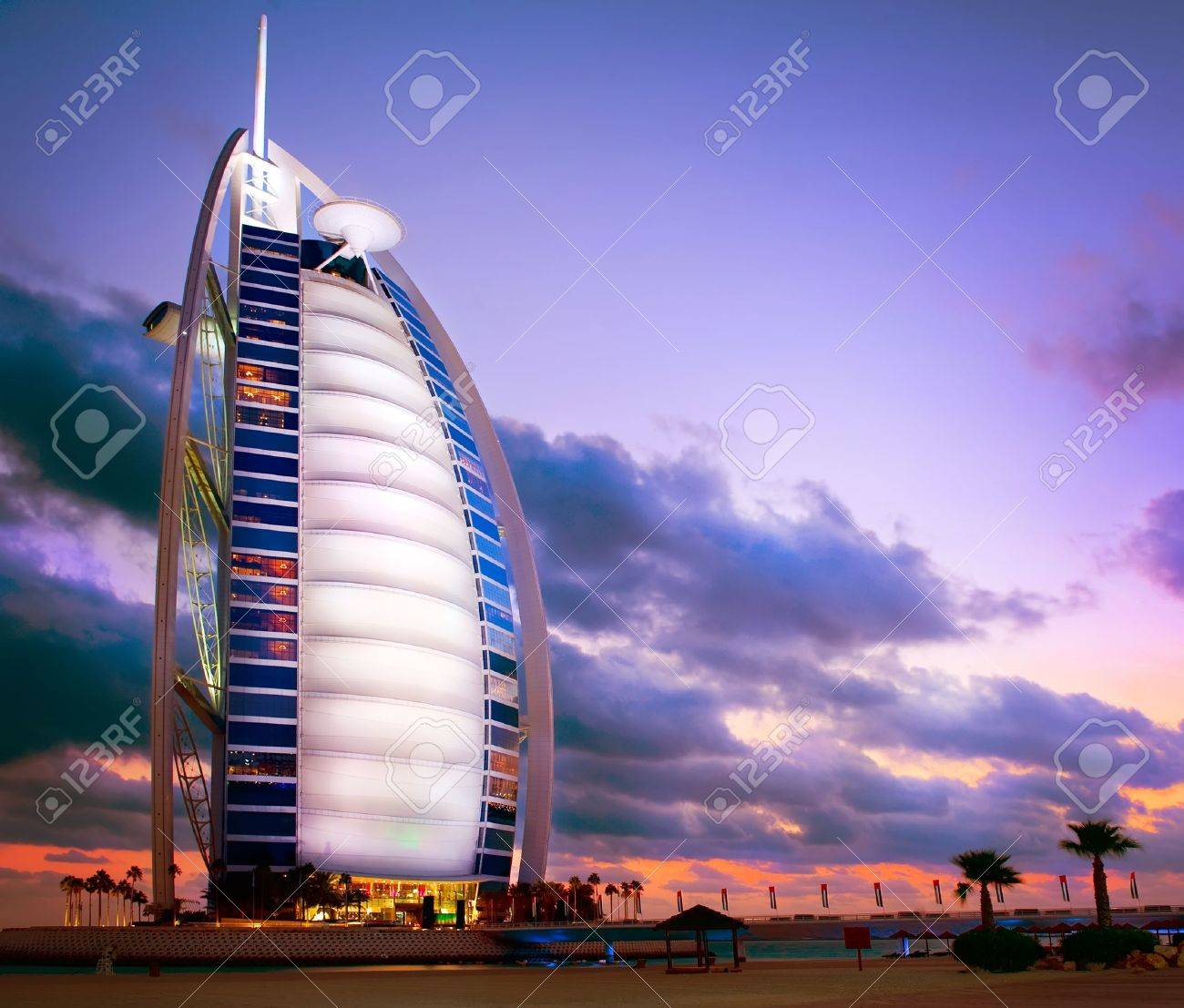 Burj Al Arab hotel in Dubai  United Arab Emirates Stock Photo - 17776937