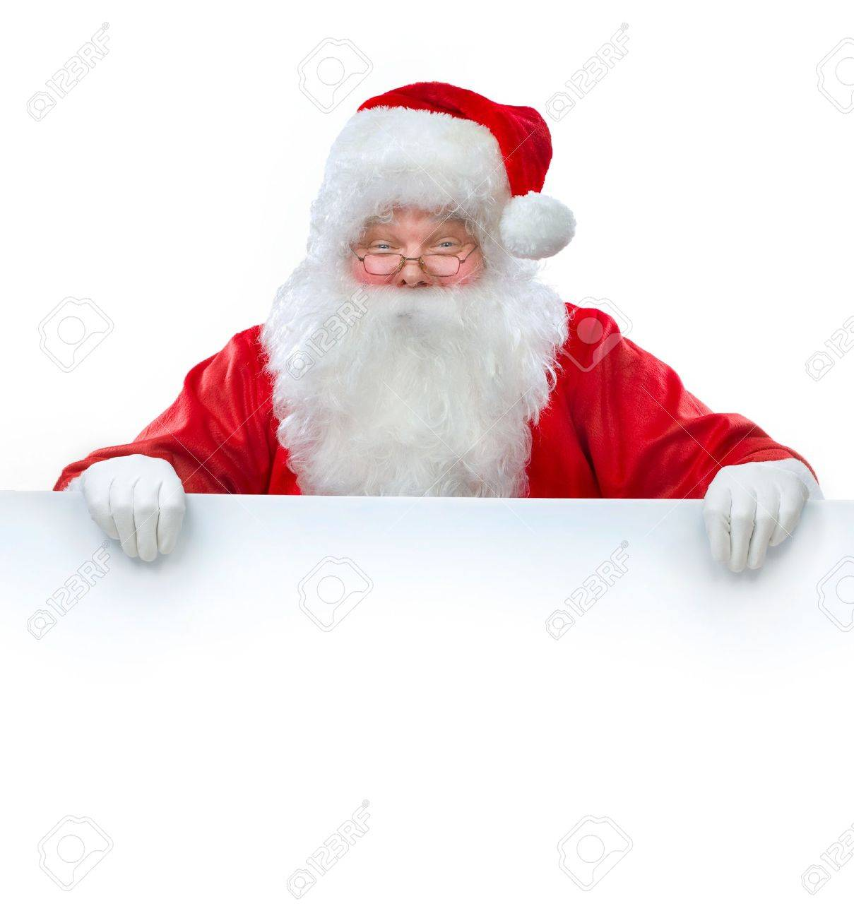 Santa Claus holding Banner with Space for Your Text Stock Photo - 11559905