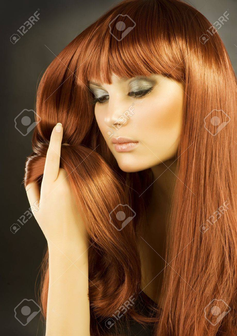 Beauty Portrait. Healthy Hair Stock Photo - 12039827