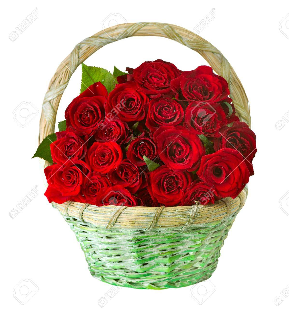 Roses in the Basket Stock Photo - 12382010