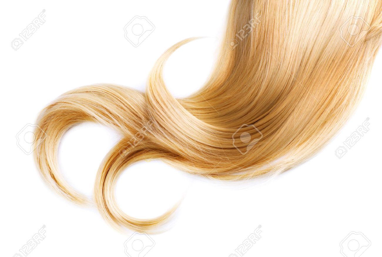 Healthy Blond Hair Isolated On White Stock Photo - 12382063