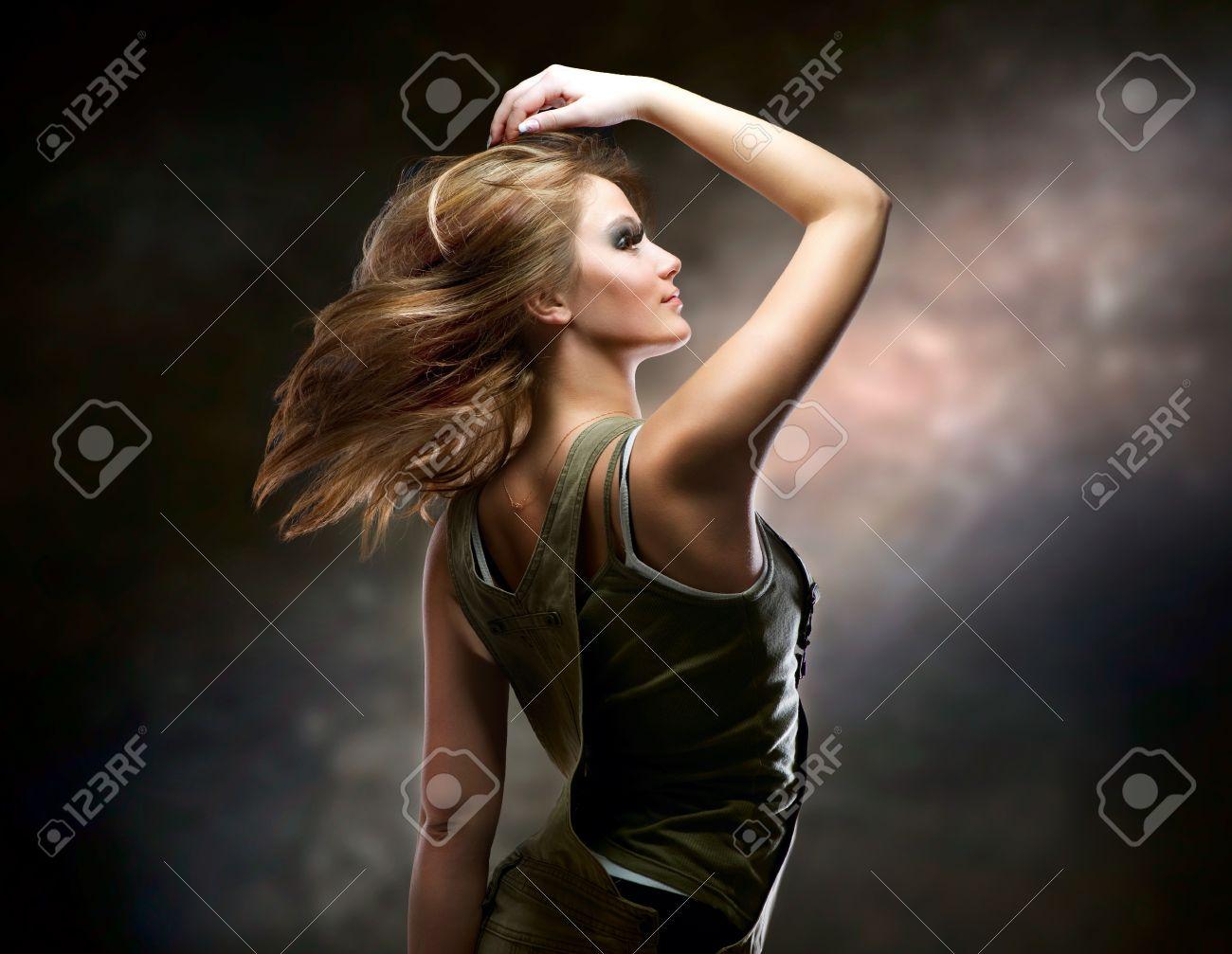 Fashion Dancing Girl. Disco Stock Photo - 12382105