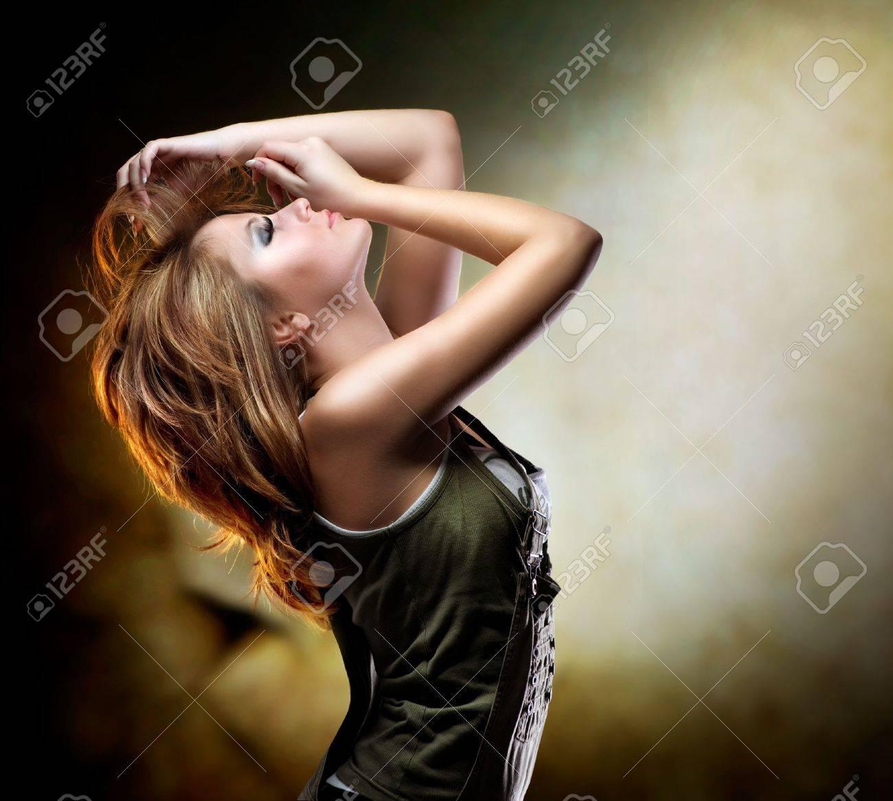 Fashion Dancing Girl. Disco Stock Photo - 12382084