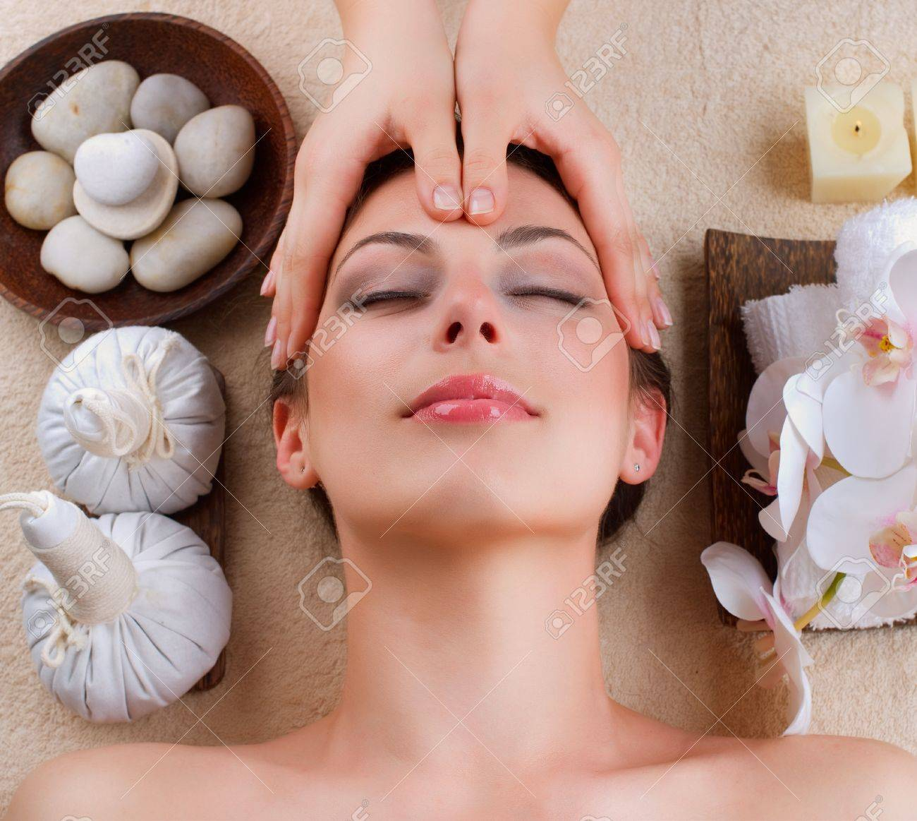 Facial Massage In Spa Salon Stock Photo Picture And Royalty Free Image Image 12862818