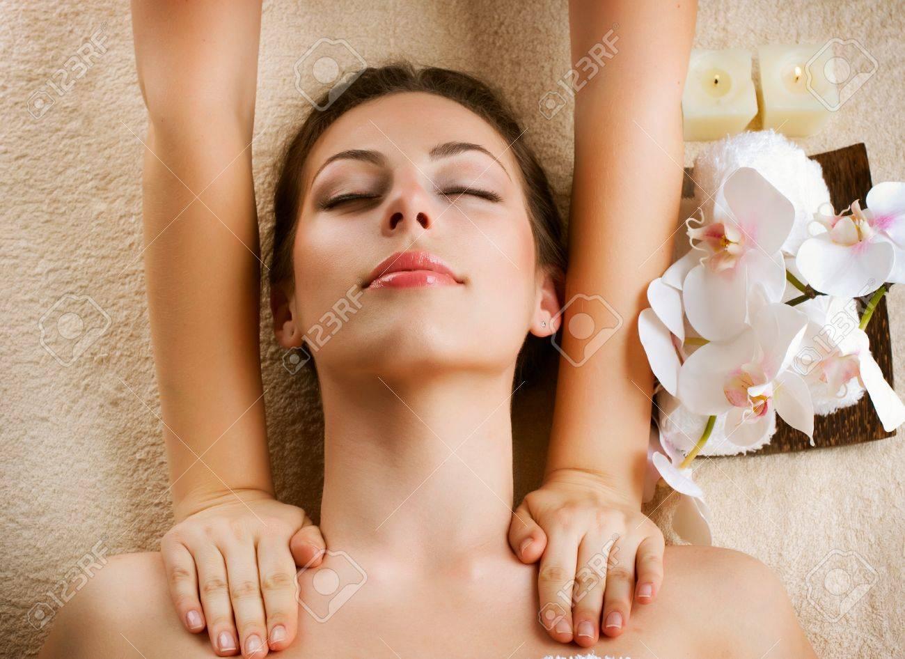 Spa Massage  Beauty Woman Getting Massage Stock Photo - 13173049