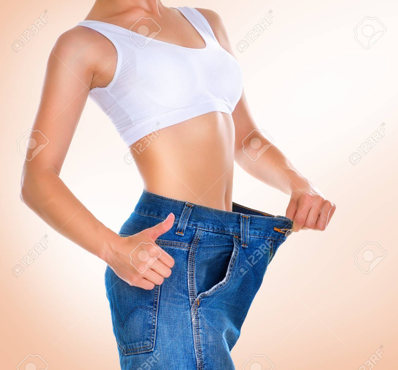 Weight loss  Healthy lifestyles concept Stock Photo - 14022288