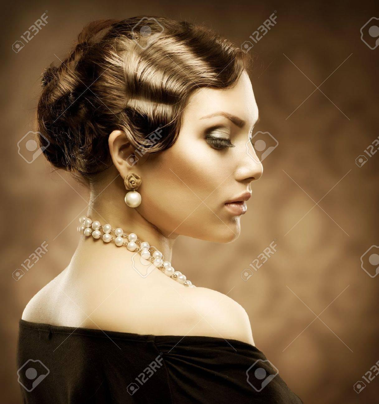 Sepia Toned Retro Style Portrait Romantic Beauty Stock Photo ...