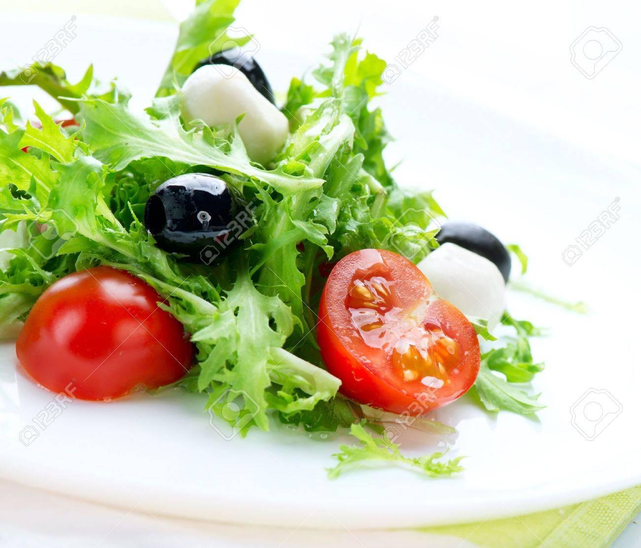 Salad with Mozzarella Cheese Stock Photo - 15057234