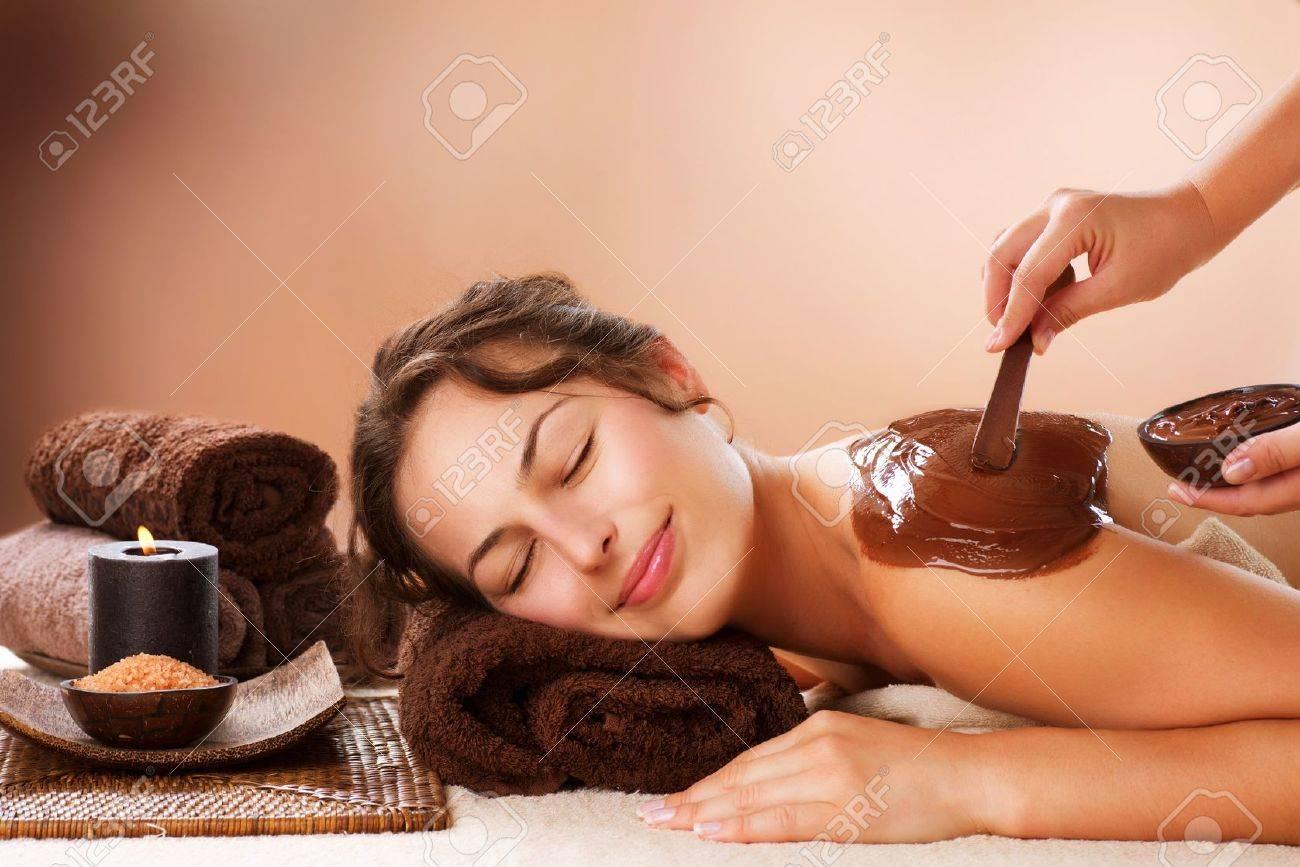 Spa Chocolate Mask  Luxury Spa Treatment Stock Photo - 15075613