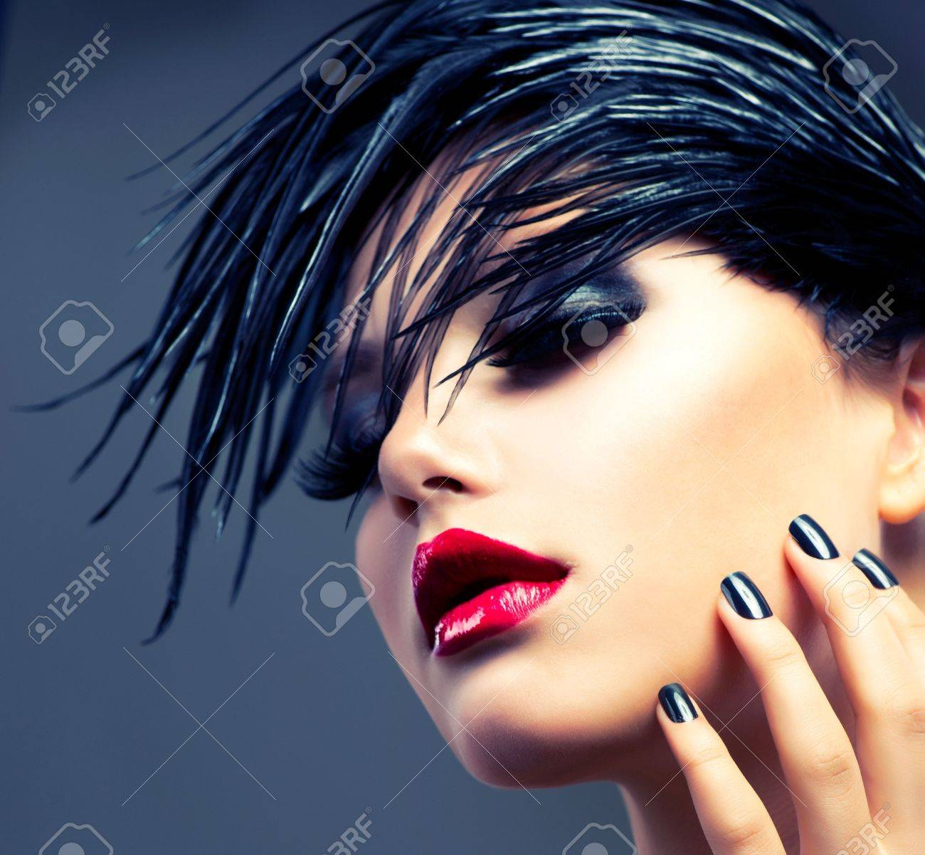 Fashion Art Girl Portrait  Punk Style Stock Photo - 15658028