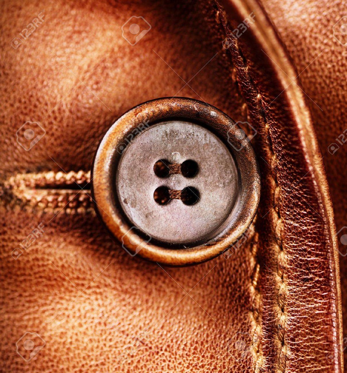 Brown Leather Texture Genuine Leather Jacket Stock Photo, Picture
