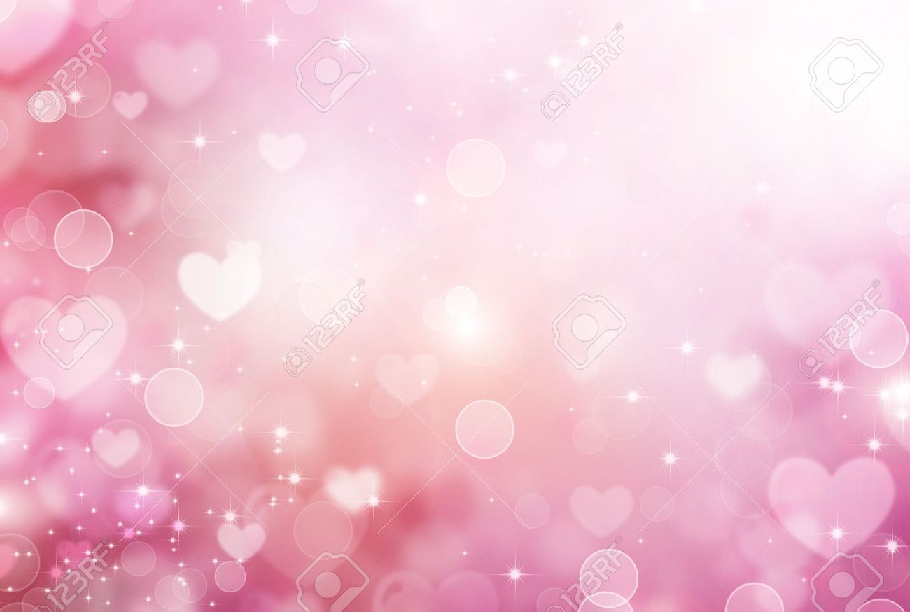 Valentine Hearts Abstract Pink Background Stock Photo Picture And