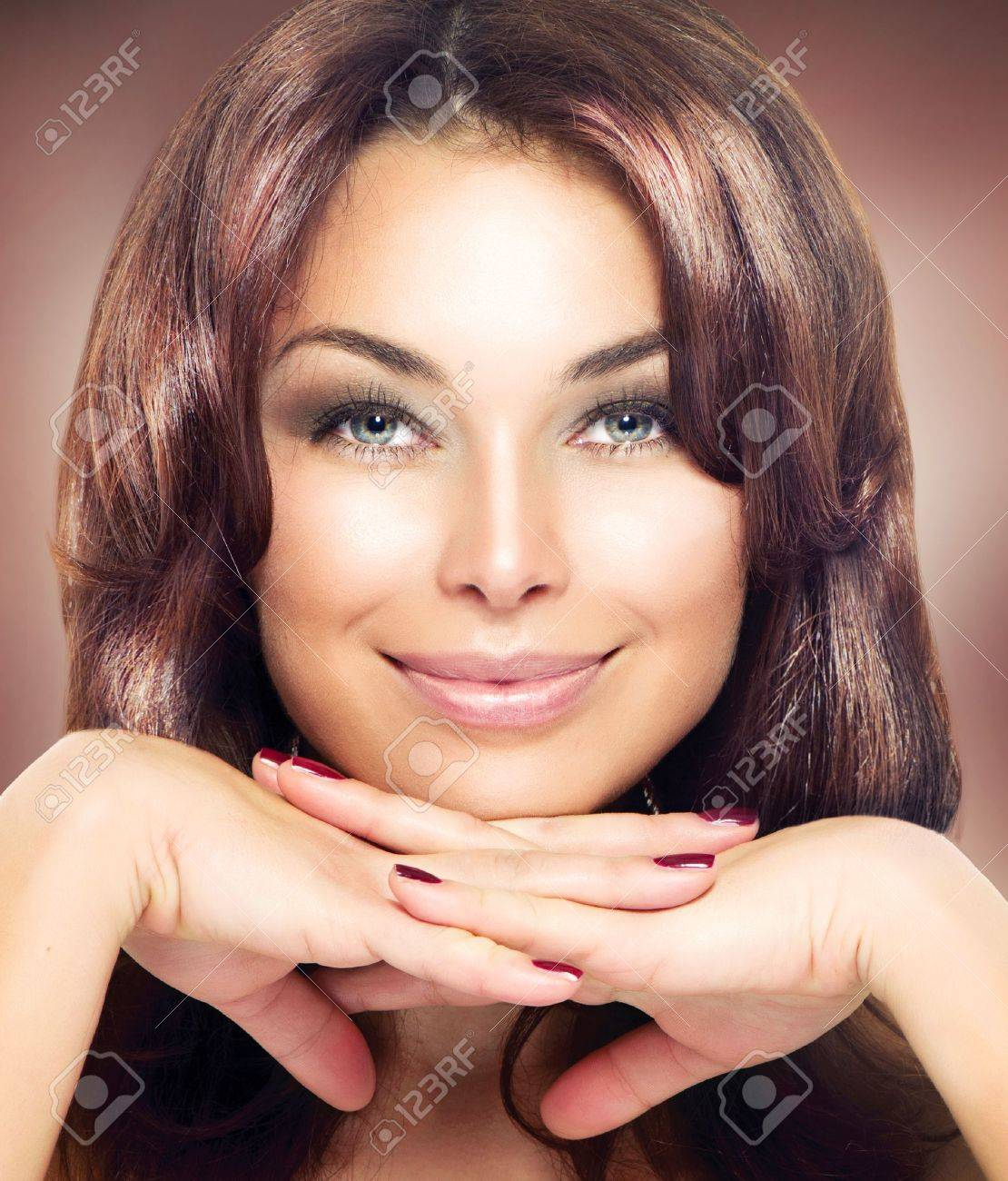Beauty Woman Portrait  Beautiful Makeup Stock Photo - 17535808
