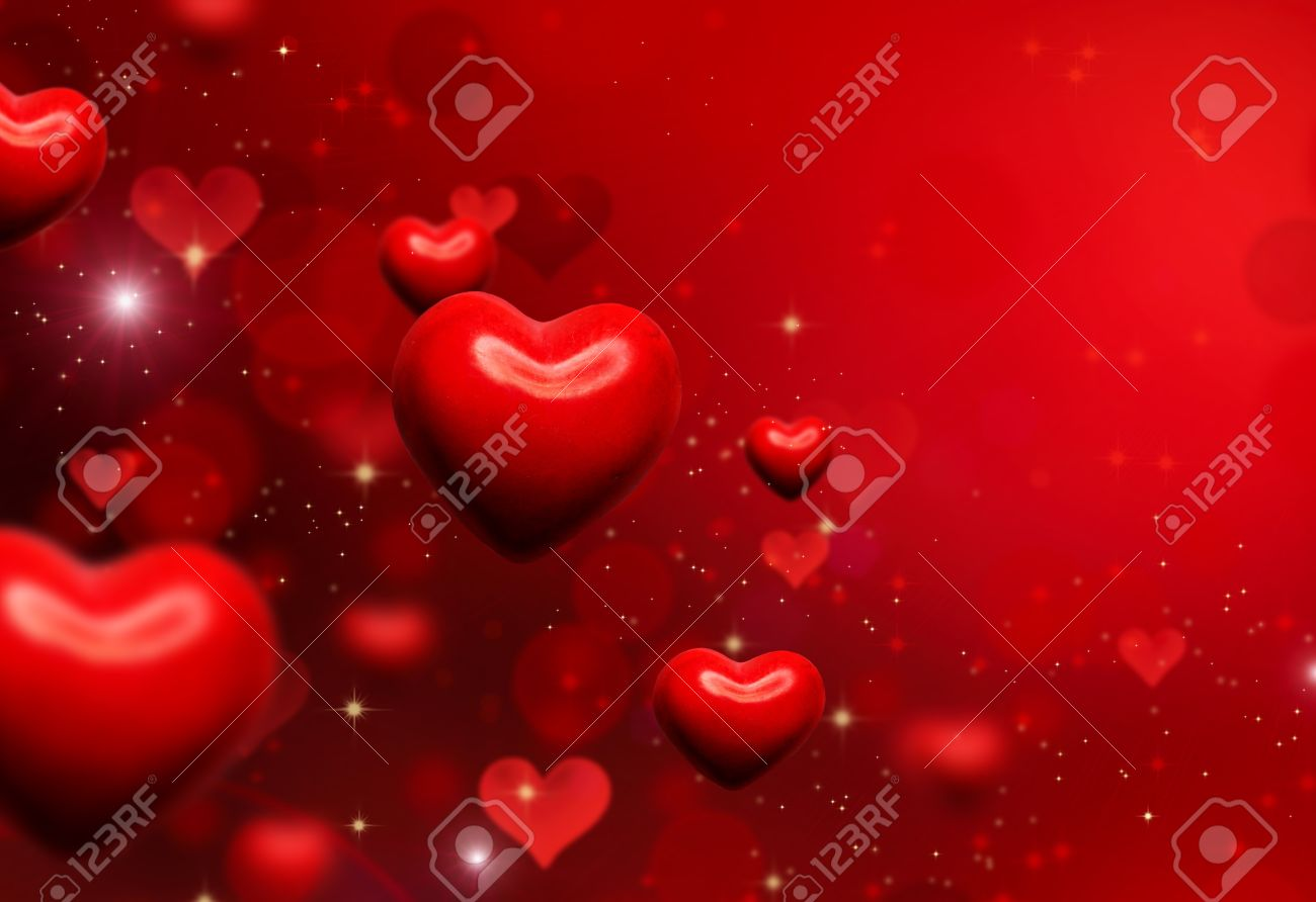 Valentine Hearts Background  Valentines Red Abstract Wallpaper Stock Photo - 17508985