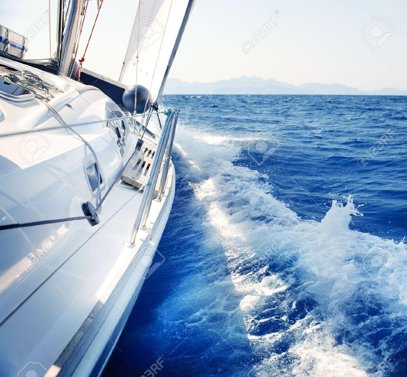 00da48fa1403 Stock Photo - Yacht Sailing Yachting Tourism Luxury Lifestyle