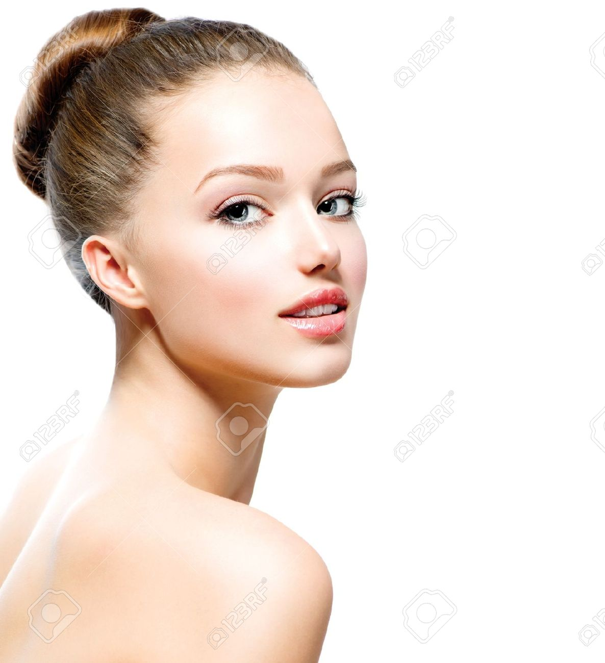 Beauty Teenage Girl Portrait isolated on a White Background Stock Photo - 18294910