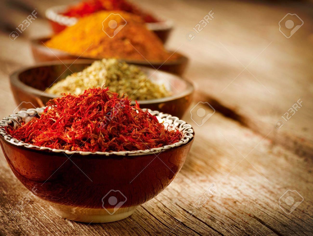 Spices Curry, Saffron, Turmeric - 18696594