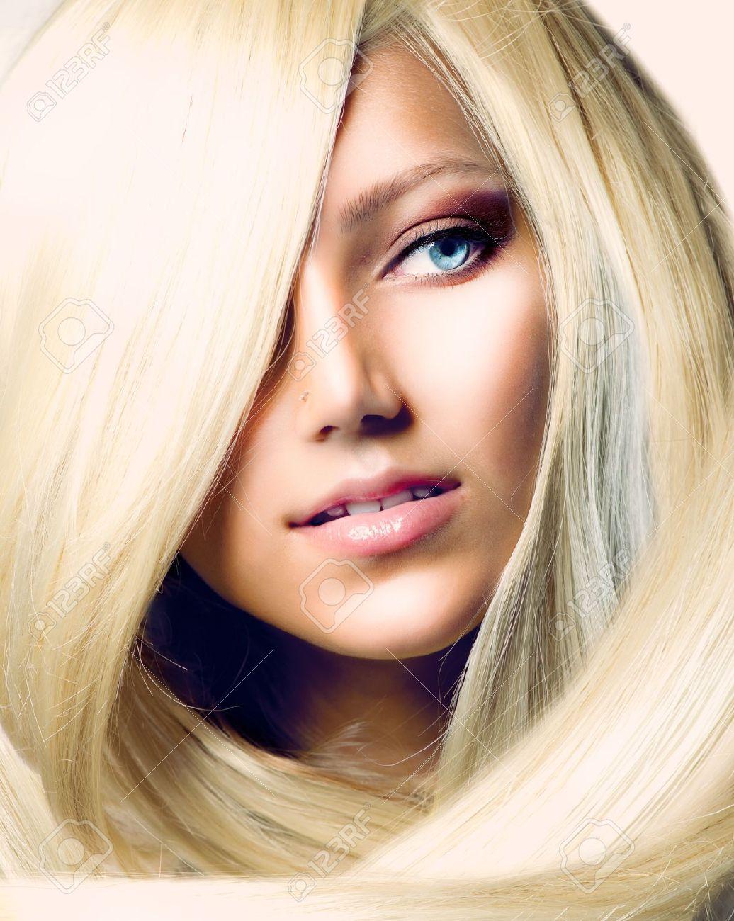 Девушки длинные светлые волосы фото